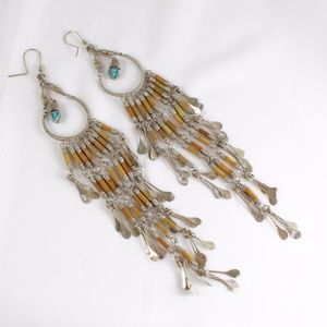 VINTAGE Boho Dangle Wire Wrapped Earrings